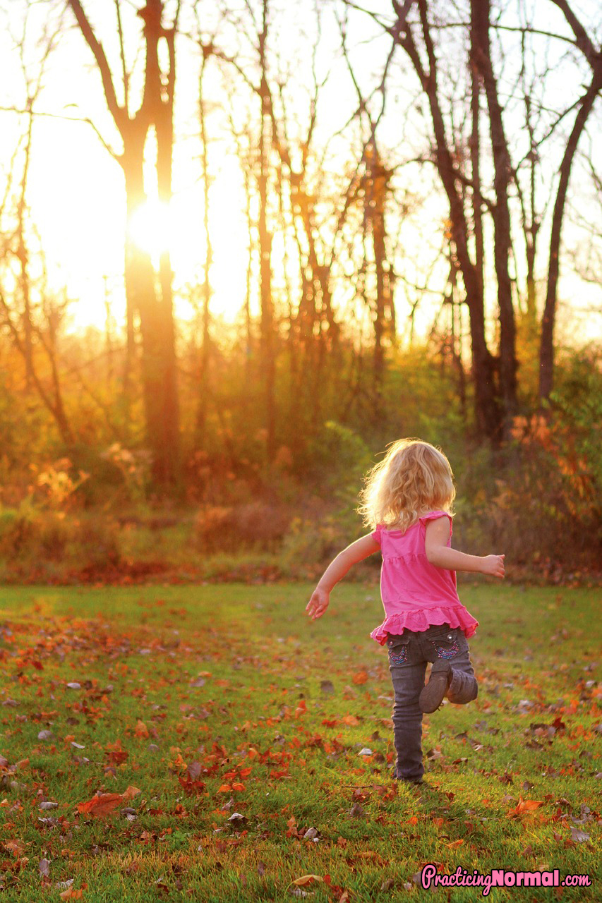 girl running playing autumn trees grass freedom beautiful dance play