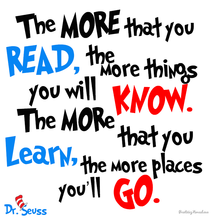 Unforgettable Dr. Seuss Quotes From Practicingnormal #drseuss #books #quotes  #reading