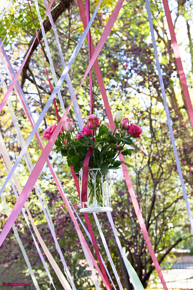 Flowers in the Tree:  Paris Themed Birthday by Practicingnormal.com