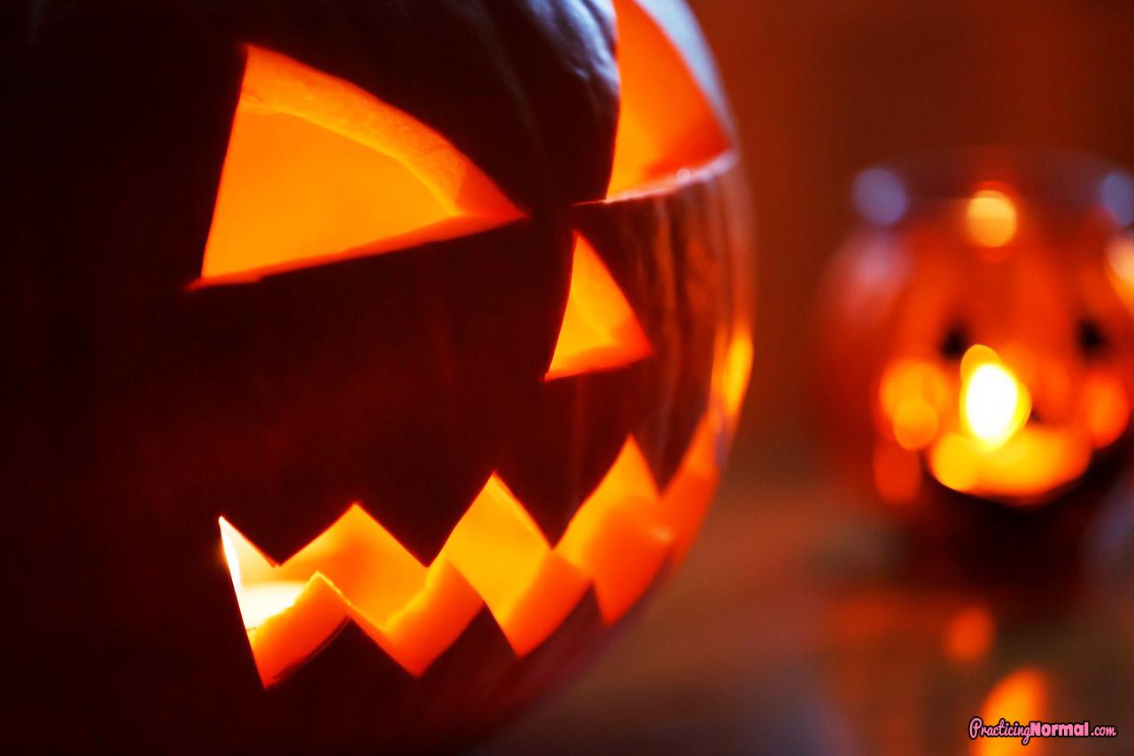 autumn decoration pumpkin scary halloween jack-o-latern october