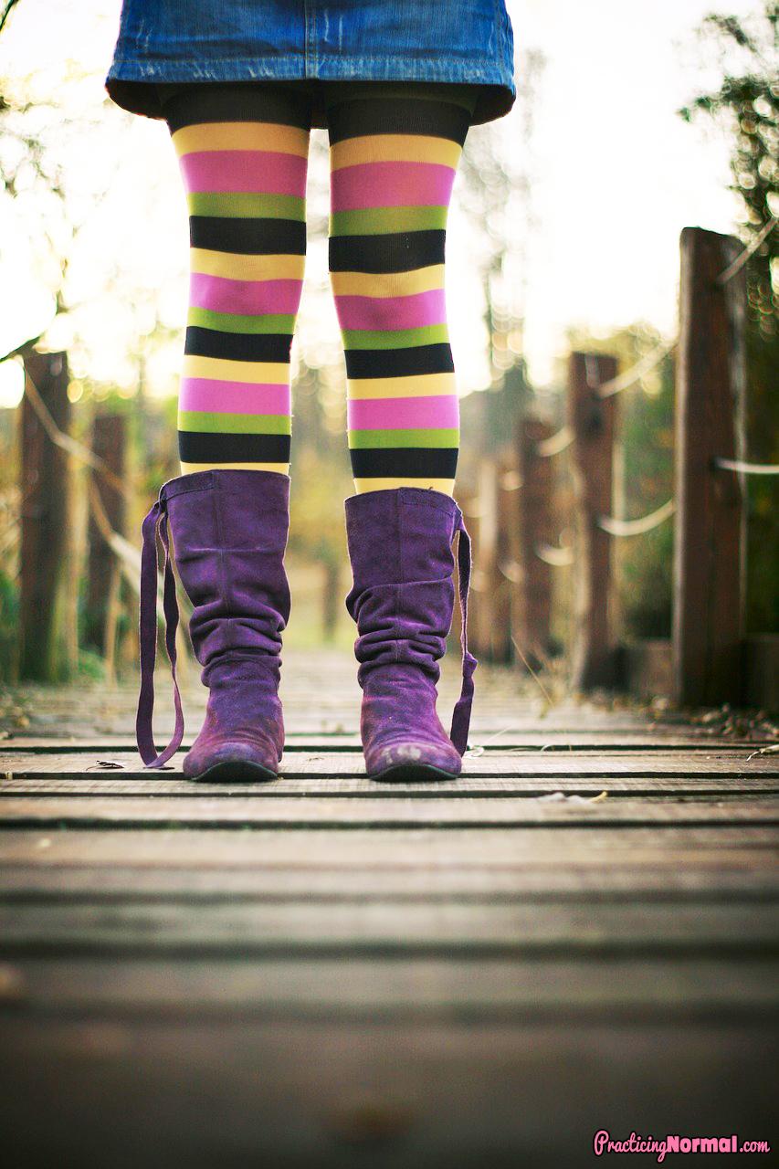 boots purple girl skirt socks color fashion violet