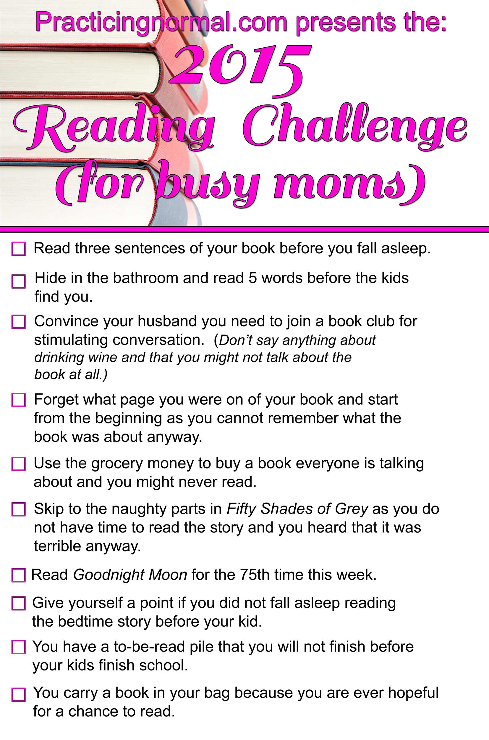 Reading Challenge for busy moms