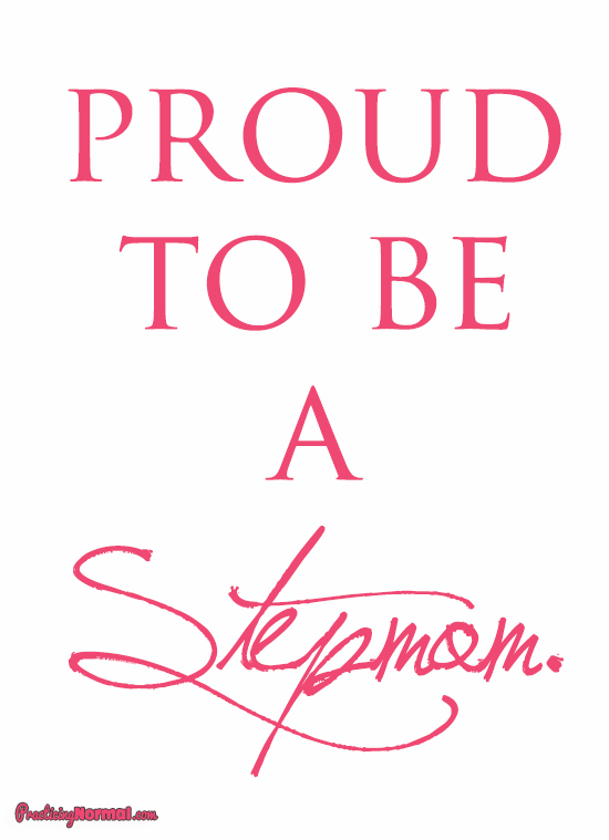 Celebrating Stepmom's at Practicingnormal.com